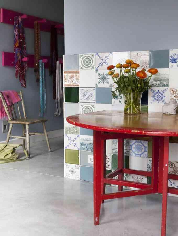 decoracion de casas de campo detalle pared azulejos