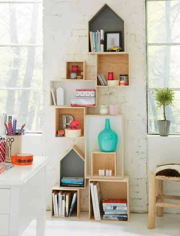 5 ideas para crear estanter as con cajas de madera for Ideas con cajas de madera