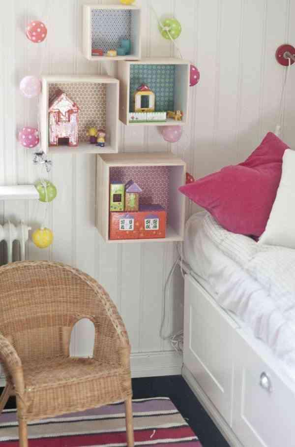 estanterias con cajas de madera habitaciones niños homedit
