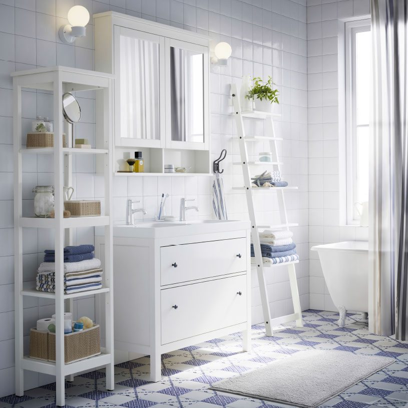 4 ideas para elegir las estanter as de ba o y acertar - Mobili salone ikea ...
