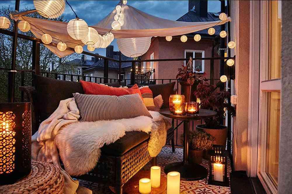 guirnaldas led Ikea terraza