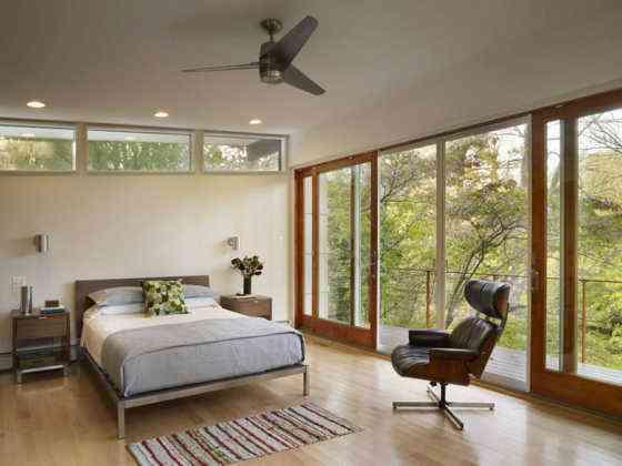mid century modern dormitorio designing