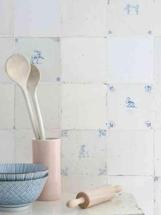 papel pintado para cocinas azulejos