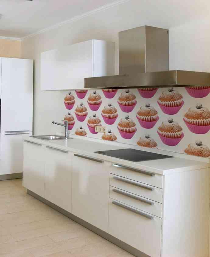 3 modelos de papel pintado para cocinas for Papel vinilico para cocinas