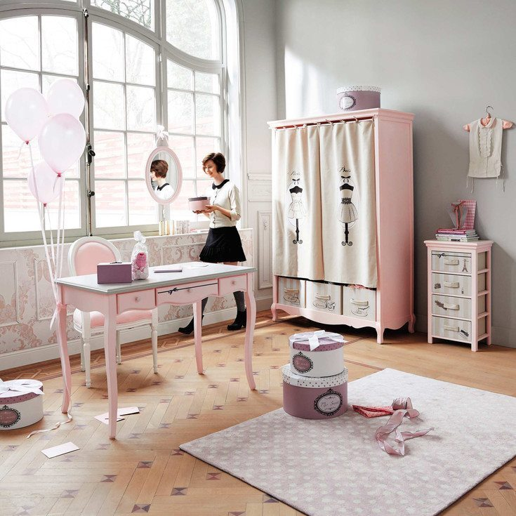 pintar un dormitorio juvenil maisons rosa