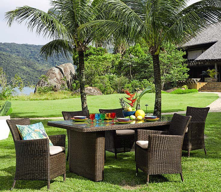 vajilla para comer al aire libre maisons palmeras
