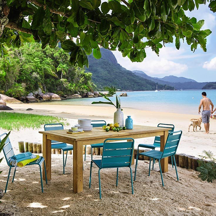 vajilla para comer al aire libre maisons playa