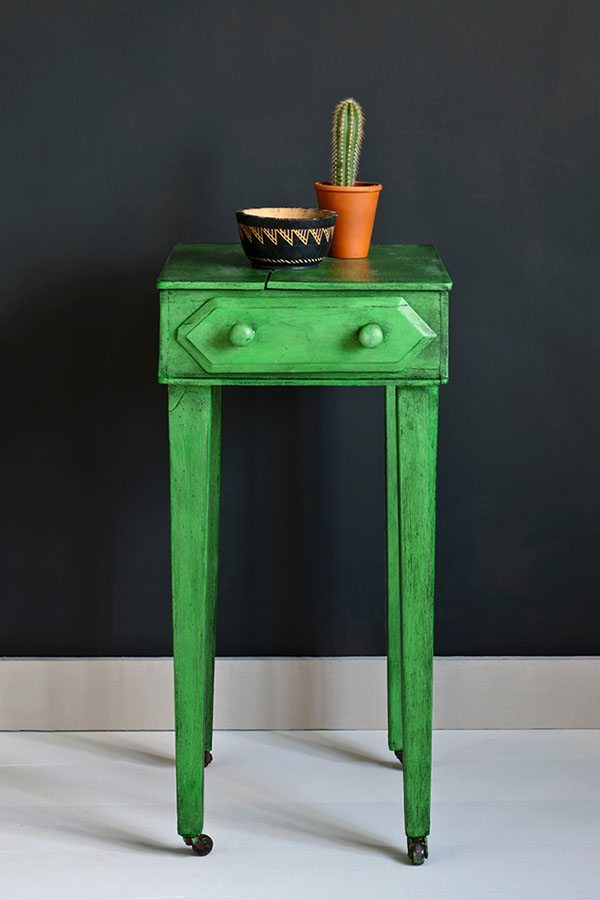amueblar la casa mesa verde annie sloan