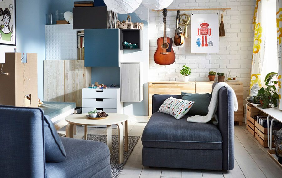 como decorar una casa pequena ikea salon