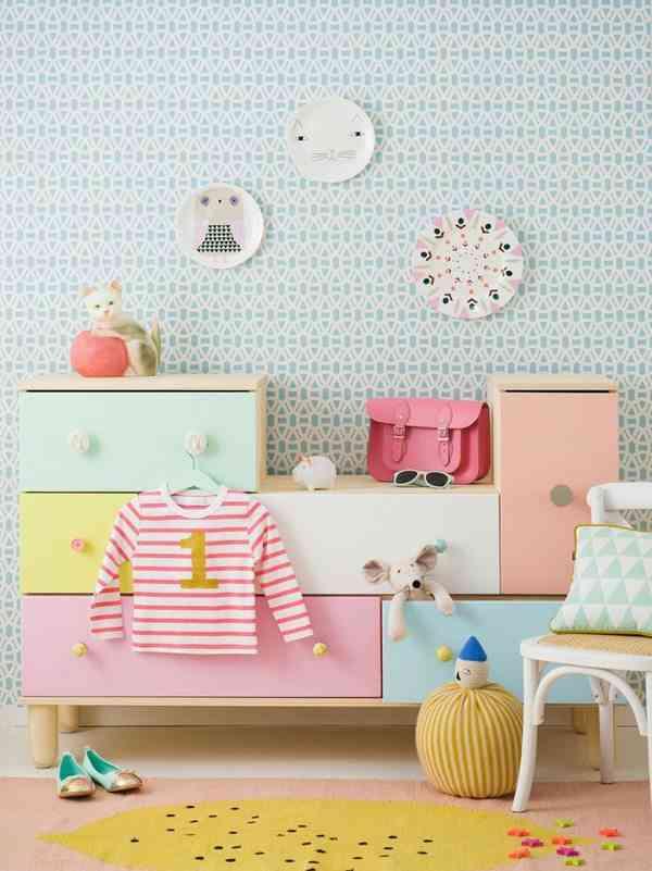 Colores pastel para la decoraci n de una habitaci n infantil for Colores de moda para pintar habitaciones