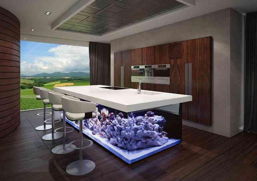 decorar con acuarios decoholic cocina
