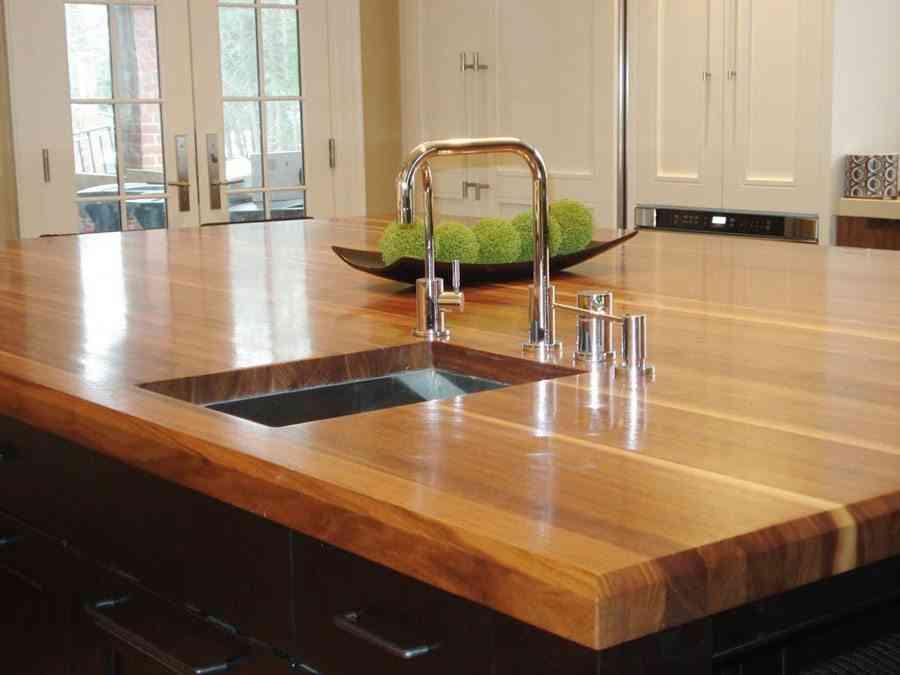 Ventajas e inconvenientes de las encimeras de madera for Encimeras de madera para banos
