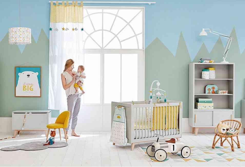 paredes de una habitación de bebé maisons montanas