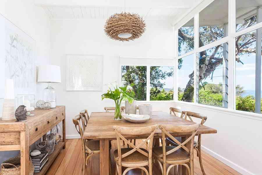 ideas para casas en la playa coastal comedor