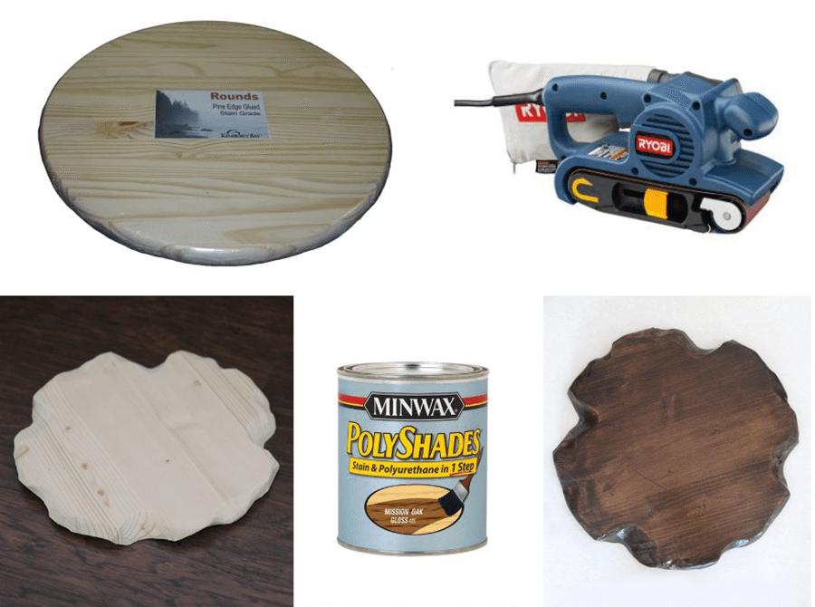 mesa auxiliar de madera y metal hacer la tapa