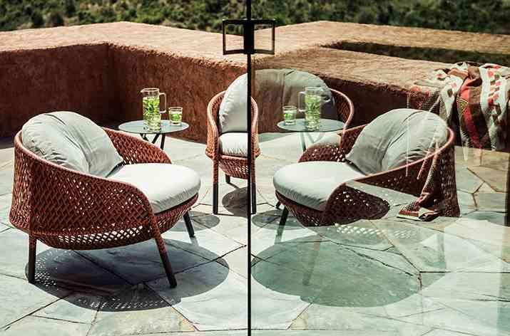 muebles de terraza Dedon fibras
