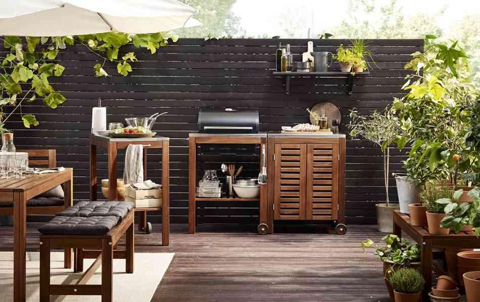 muebles de terraza ikea madera