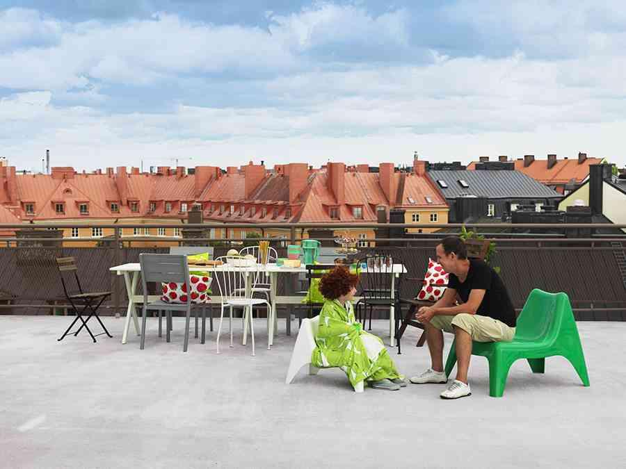 muebles de terraza silla ikea