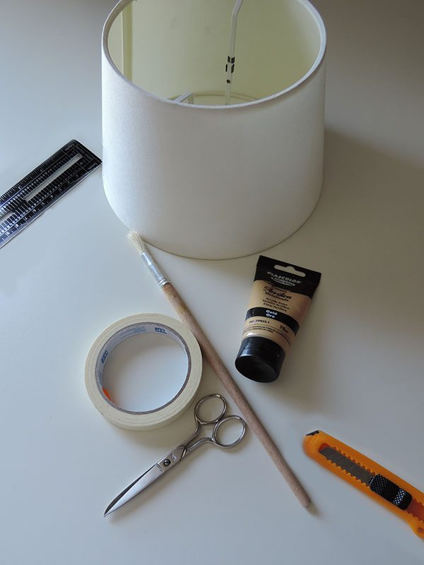 paint a lampshade materials