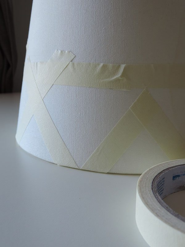 paint a lamp shade 2 step