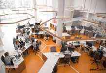 Vista general de la oficina