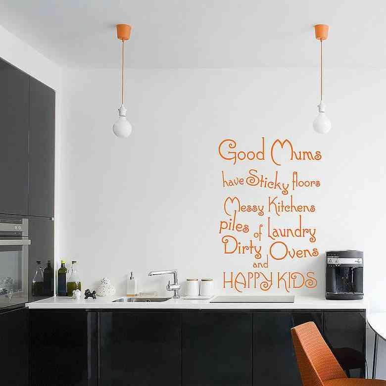 vinilos para cocinas modern kitchen naranja