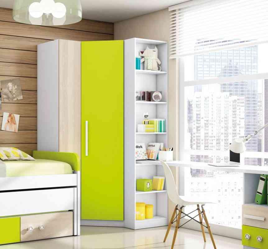 Interiores de armarios rinconeros for Armarios juveniles baratos
