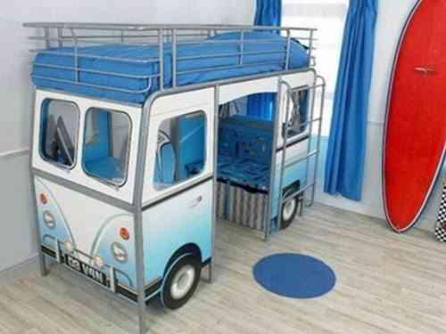 camas infantiles originales autobús gemelares