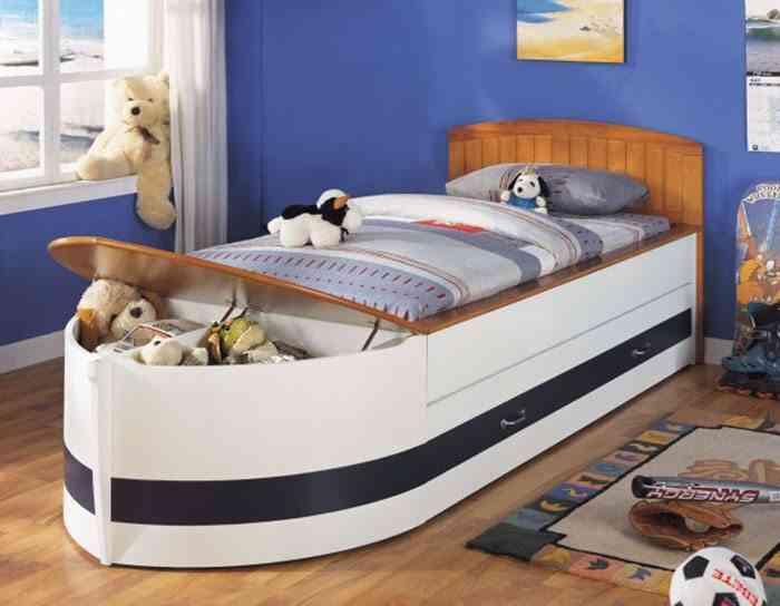 camas infantiles originales barco 3 gemelares