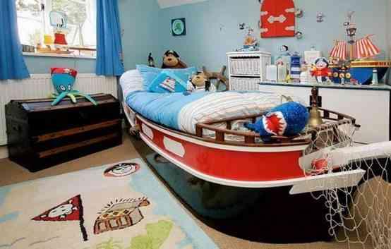 camas infantiles originales barco gemelares