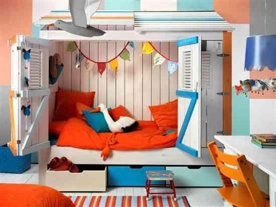 camas infantiles originales caseta coastal gemelares