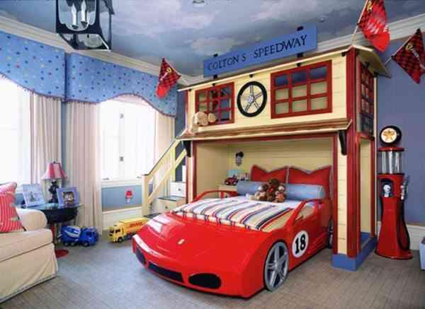 camas infantiles originales coche gemelares