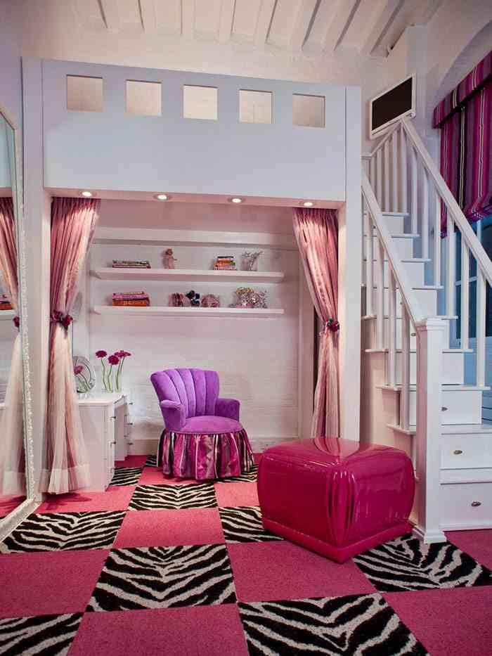 camas infantiles originales hgtv rosa