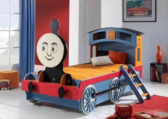 camas infantiles originales tren gemelares