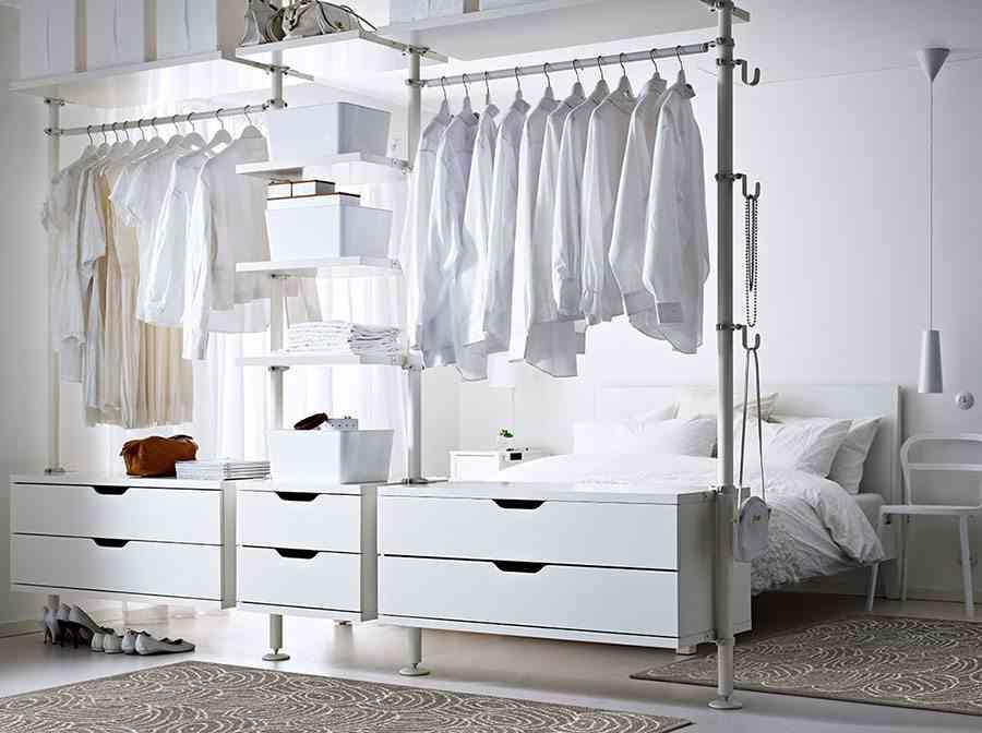ideas para vestidores económicos Ikea vestidor abierto