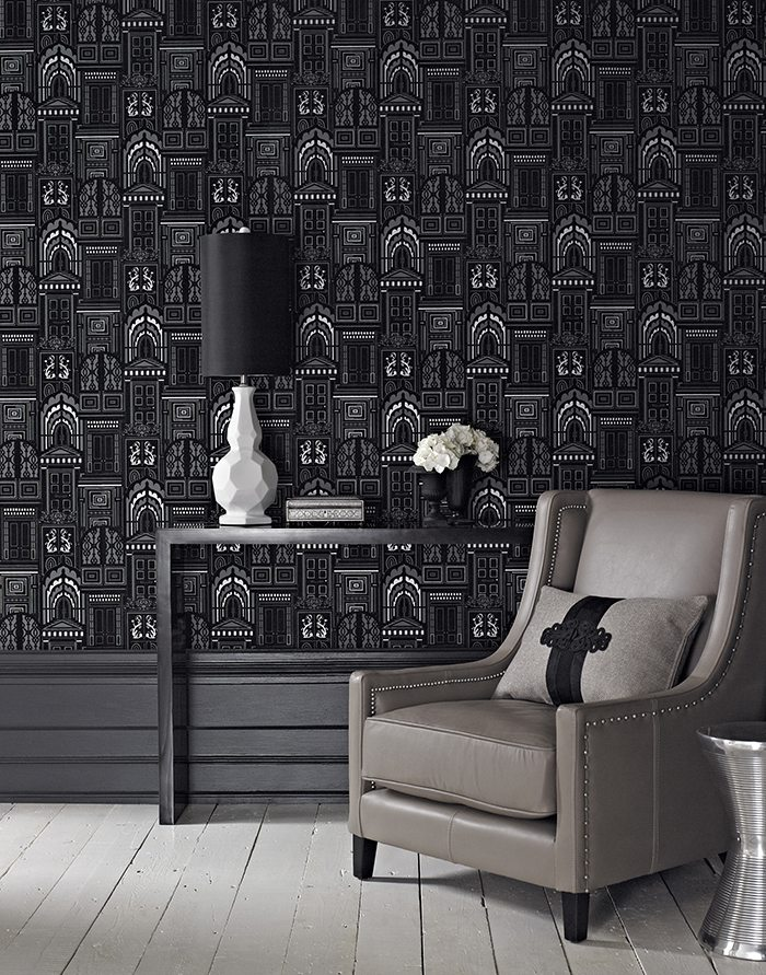 papeles pintados en blanco y negro arthouse
