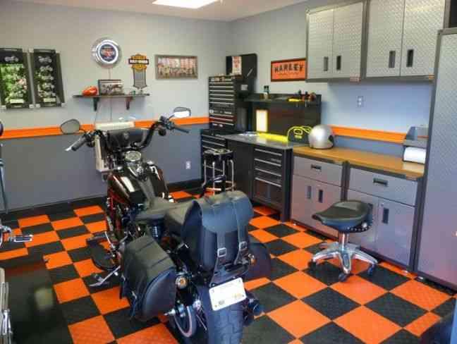 pintar el garaje home decor naranja