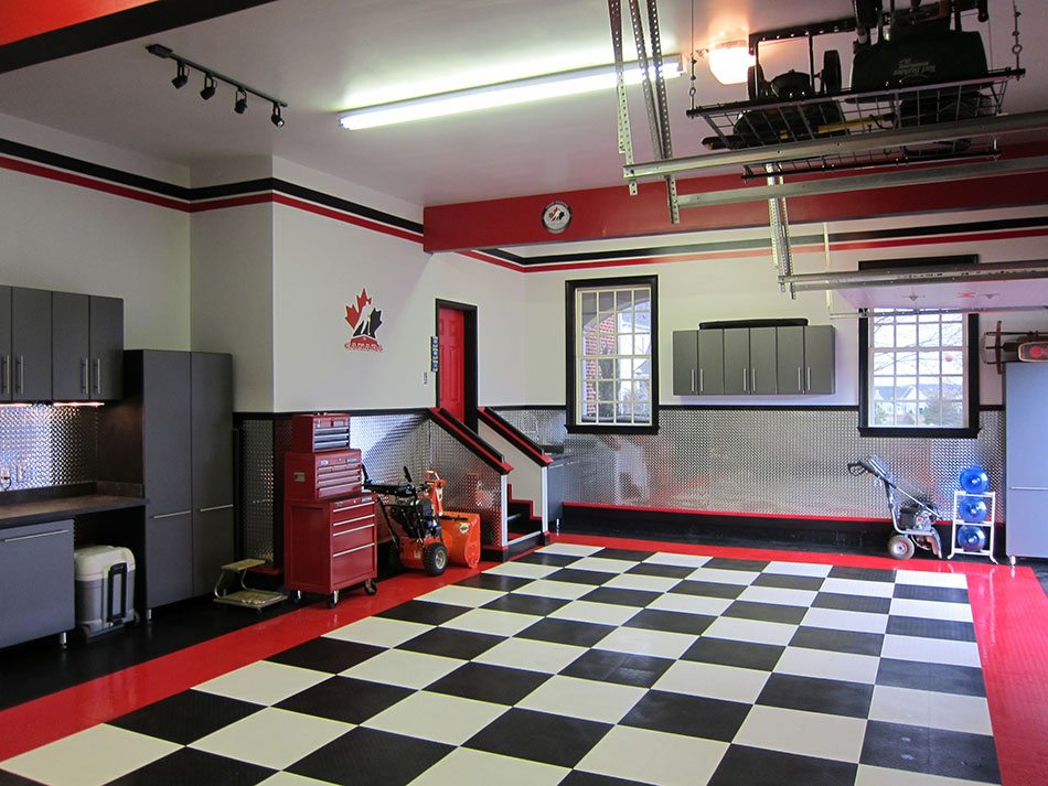 5 claves para pintar el garaje colores materiales e for 2 car garage man cave