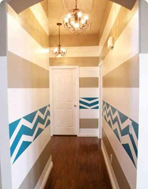 c mo pintar un pasillo estrecho y sin luz