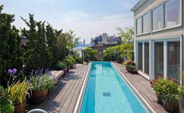 piscinas en terrazas de aticos avso azul