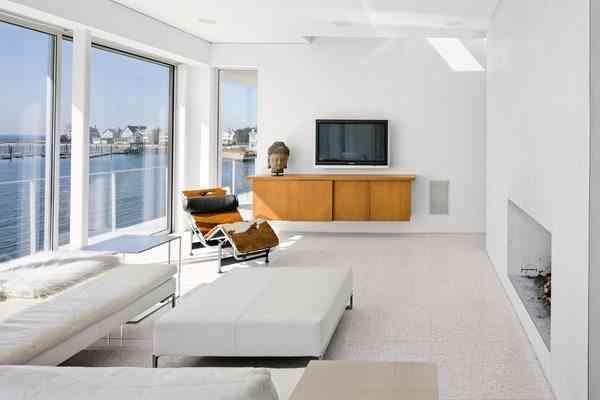 suelo de terrazo sin brillo minimalist
