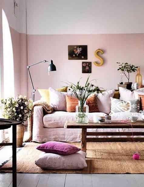 zocalos de pintura rosa lushome