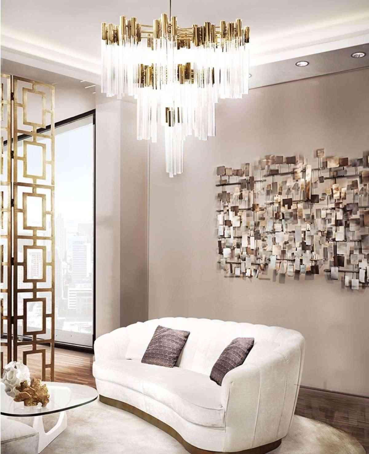 lámparas de cristal de techo