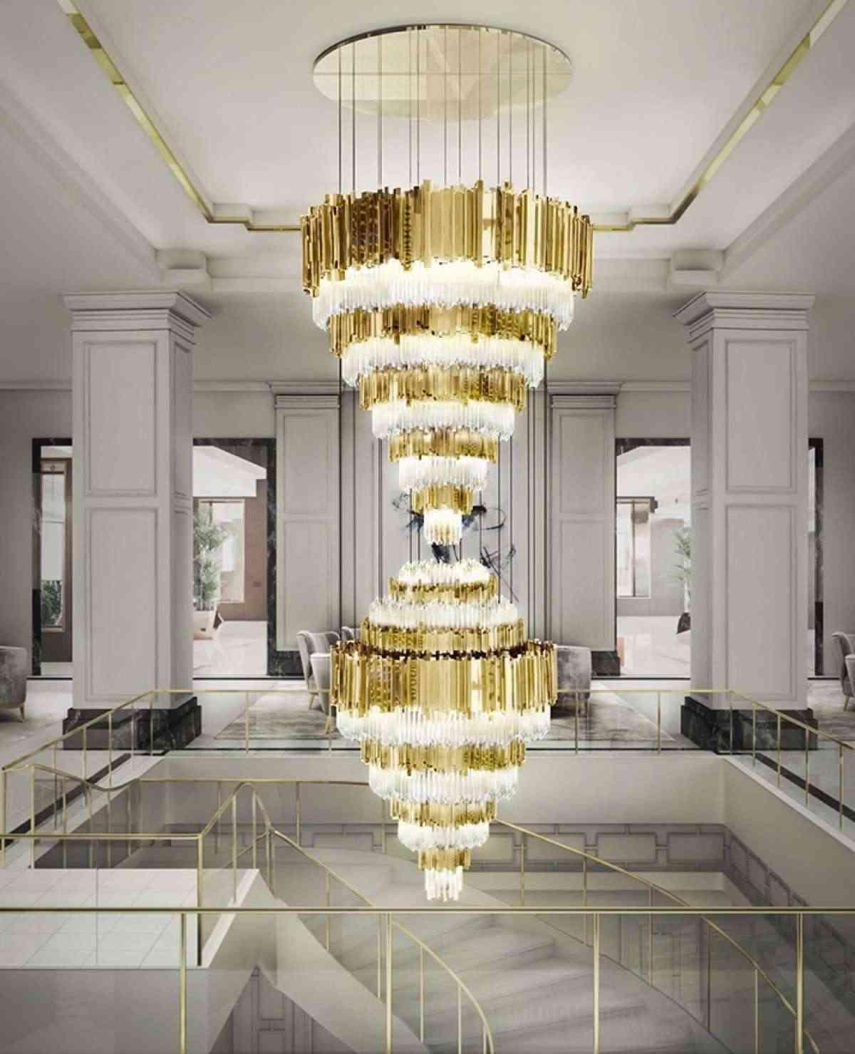 lámparas de cristal de lujo