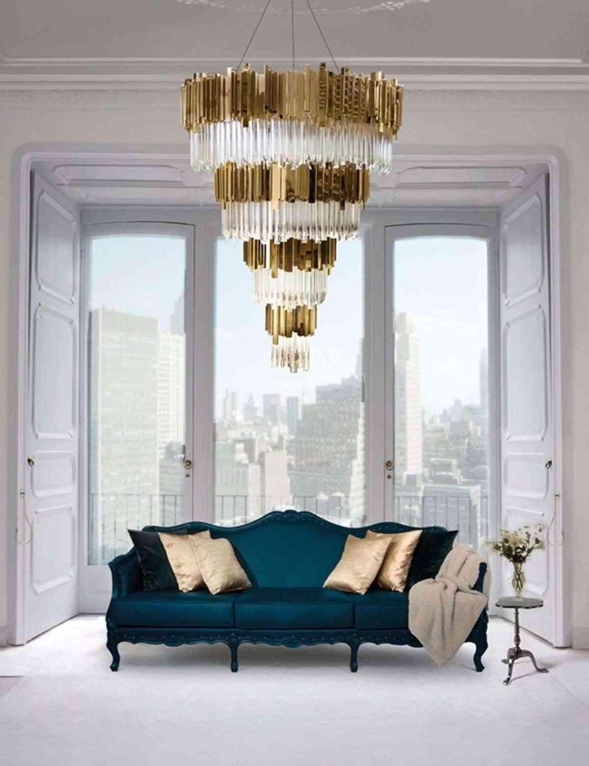 lámparas de cristal de lujo empire