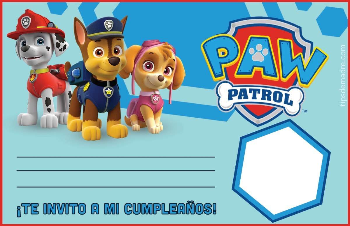 cumpleaños de la patrulla canina