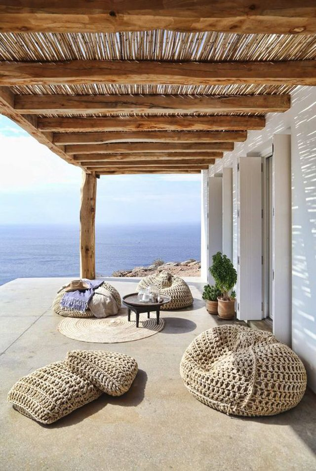pufs originales terraza