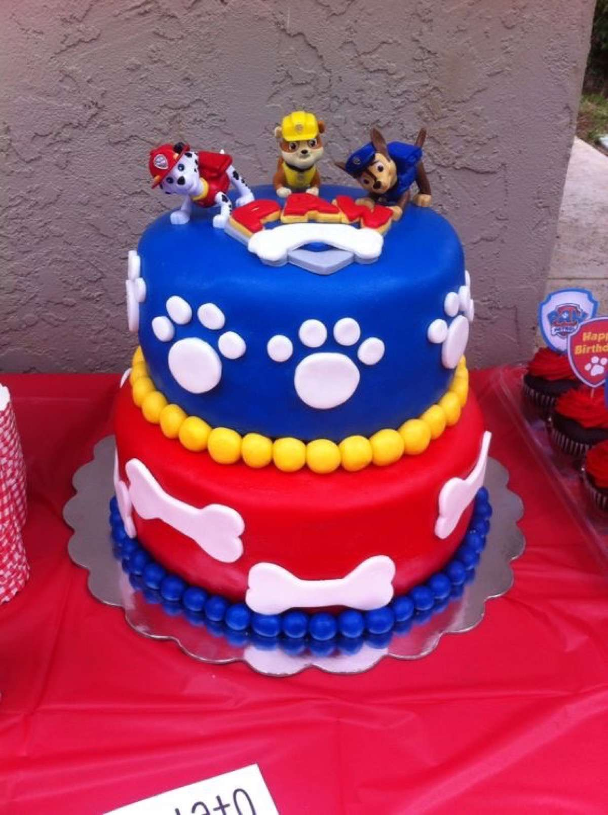 tarta de cumpleaños de la patrulla canina