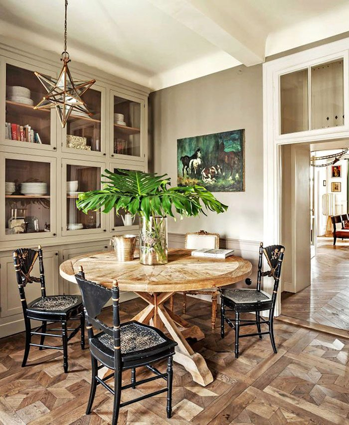 apartamento de estilo frances comedor antiguo