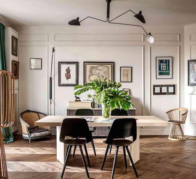 apartamento de estilo frances comedor